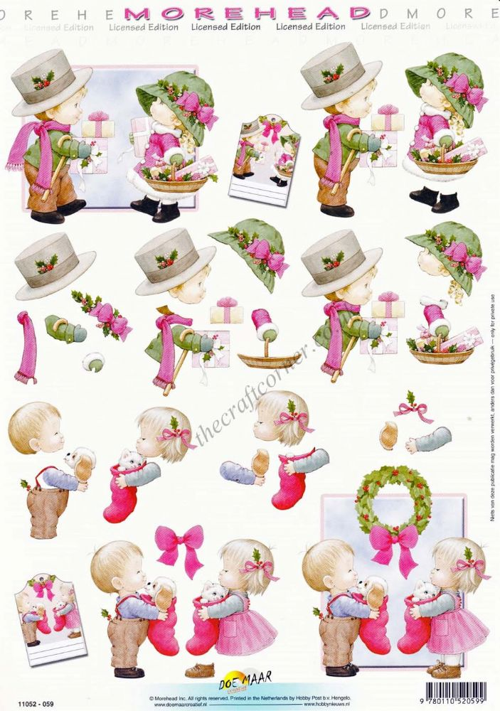 Morehead Christmas Children Gift Giving 3d Decoupage Craft